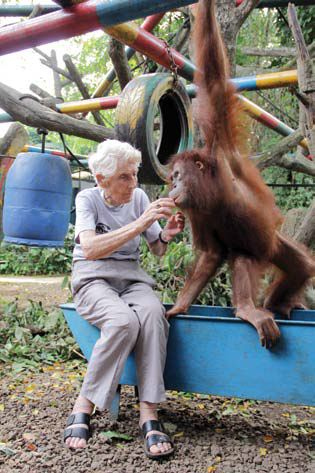 Ulla dengan orangutan