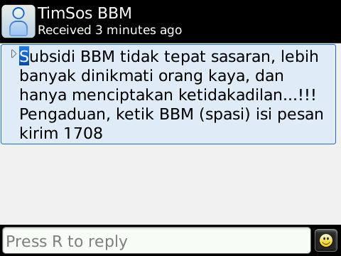 SMS BBM