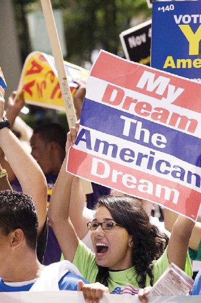 Demo RUU Imigrasi di Amerika
