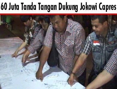 60 juta tanda tangan dukung jokowi capres (foto: republika)