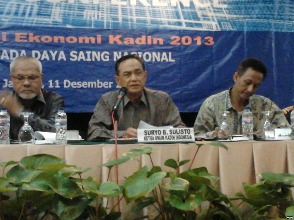 Ketua Kadin, Suryo B Sulisto.