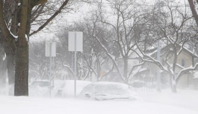 ilustrasi badai salju