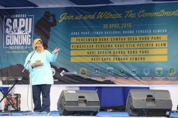foto Dirjen LHK, dlm Jambore Sapu Gunung 2016 -1