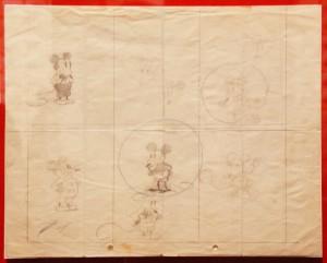 Sketsa Awal Mickey Mouse