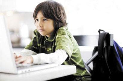 Mengajar anak main internet