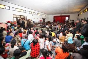Kunjungan Presiden SBY ke Posko Pengungsian Merapi
