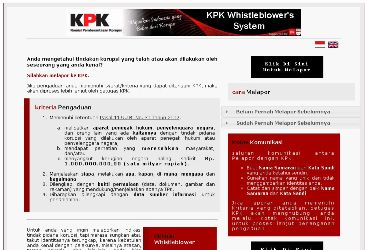 situs KPK Whistle blower's System