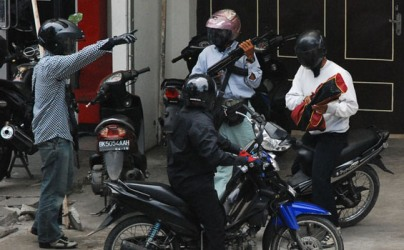 aksi perampokan bank CIMB Niaga
