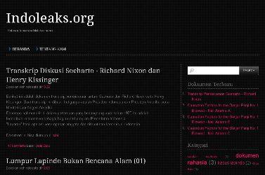 Tampilan Situs Indoleaks