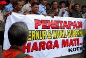 Aksi Menuntut Penetapan Gubernur Yogyakarta