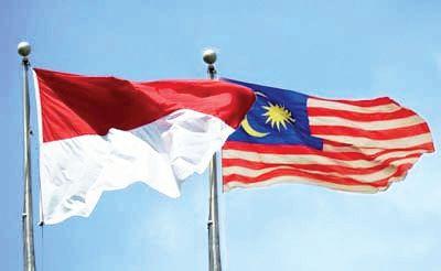 bendera indonesia-malaysia