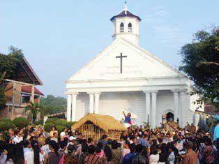Undhuh-Undhuh di Gereja Jawa