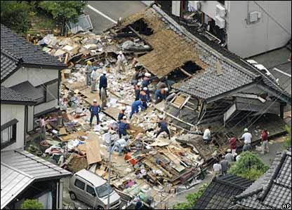 tsunami Jepang - Ilustrasi