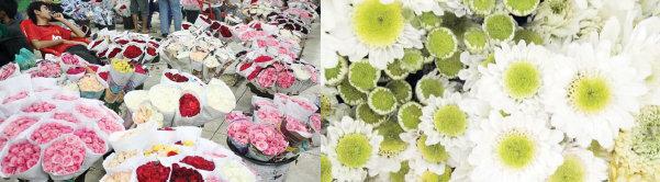 Aneka Bunga di Pasar Belong