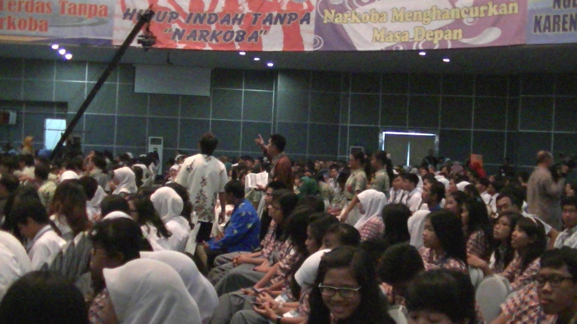 Remaja dan mahasiswa peserta acara
