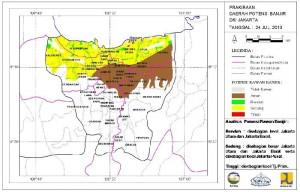 peta potensi banjir jakarta (foto : BMKG)