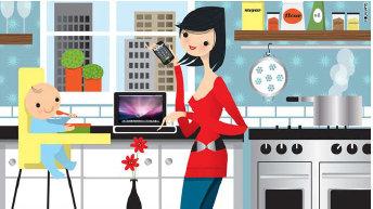 73 Gambar Kartun Kesibukan Ibu Rumah Tangga Gratis