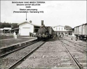 Bangunan yang masih tersisa Semarang NIS