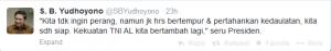 tweet SBY tentang kesiapan armada perang Indonesia
