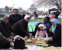 Harlinda Liburan musim semi saat kuliah di Jepang