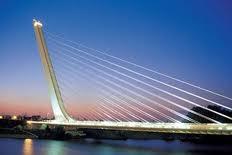Puente del Alamillo Seville, Spanyol