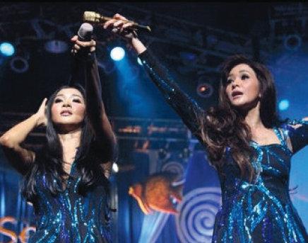 Tampil di pentas dengan Mey Chan, Duo Maia