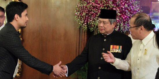 Bersama Presiden Aquino dan Presiden SBY di Istana Malacanang