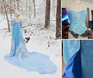 Gaun Angela Clayton -Elsa Frozen