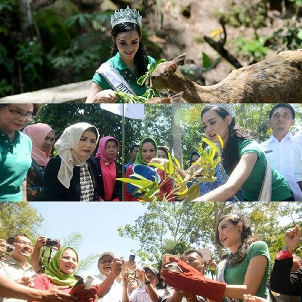 Salah satu kegiatan sebagai Puteri Indonesia Lingkungan