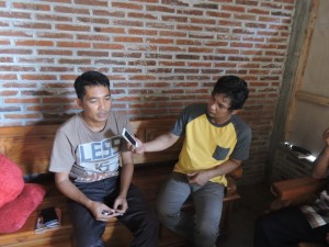 wawancara Kabari dengan Bandol pengerajin Topeng Malangan