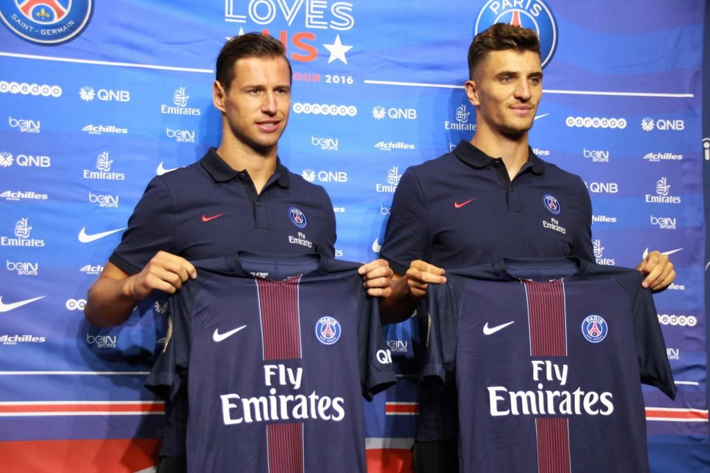Anggota baru tim PSG, Grzegorz Krychowiak dan Thomas Meunier