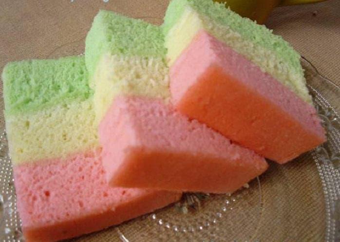 Resep Cake Kukus Pelangi Ncc: Lembutnya Bolu Kukus Pelangi